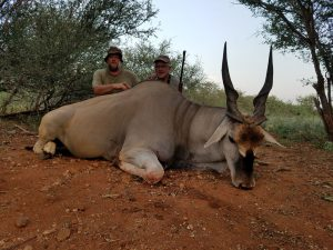 Eland hunted by Keith Brossard, USA | April 2018