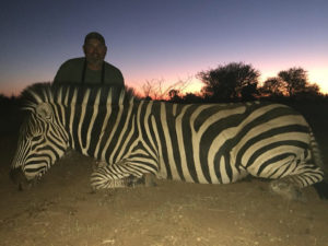 Zebra hunted by Gary Kelley, Texas, USA | June 2018 | at Matsuri Safaris